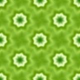 Il frattale senza cuciture verde ha basato le mattonelle con una stella di otto punti o fiore e foglie Fotografia Stock