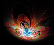 Il frattale variopinto 3d della farfalla dell'illustrazione rende illustrazione vettoriale
