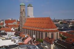 Il Frauenkirche a Monaco di Baviera Fotografie Stock Libere da Diritti