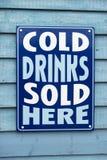 Il freddo beve il segno. Fotografia Stock Libera da Diritti