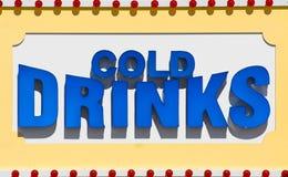 Il freddo beve il segno Immagini Stock