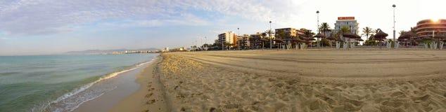 Il fron di panorama di Palma de Mallorca può spiaggia di pastillo Immagini Stock Libere da Diritti