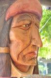 Il fronte del nativo americano fa da legno Fotografie Stock Libere da Diritti