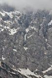 Il fronte del nord imponente di Triglav, Slovenia Fotografia Stock