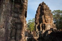 Il fronte del tempio di Bayon immagini stock