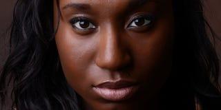 Il fronte della bella donna Fotografie Stock Libere da Diritti