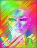 Il fronte della donna astratta, fine su Fotografia Stock