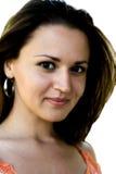 Il fronte della fine fine della ragazza in su Fotografia Stock Libera da Diritti