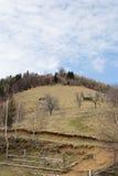 Il fronte della montagna Fotografie Stock