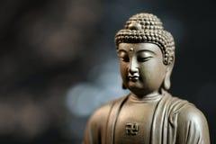 Il fronte dello zen stile Buddha su sfondo naturale Fotografia Stock