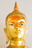 Il fronte di Buddha, statua di Buddha, Buddha dorato Fotografie Stock