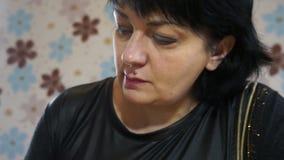Il fronte di un artista della donna illustrazione di stock