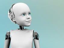 Il fronte di un robot del bambino. Immagine Stock