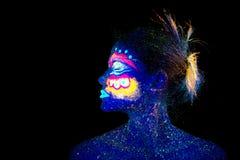 Il fronte nel profilo, stranieri del ritratto della donna addormentati, immagine stock
