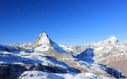 Il fronte orientale del Cervino Le alpi, Svizzera Immagini Stock Libere da Diritti