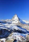 Il fronte orientale del Cervino Le alpi, Svizzera Fotografia Stock