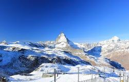 Il fronte orientale del Cervino Le alpi, Svizzera Fotografia Stock Libera da Diritti