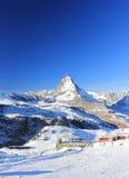 Il fronte orientale del Cervino Le alpi, Svizzera Fotografie Stock Libere da Diritti