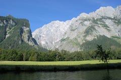 Il fronte orientale di Watzmann nelle alpi bavaresi Immagini Stock Libere da Diritti