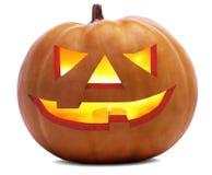 Il fronte spaventoso della zucca di Halloween è isolato sopra fondo bianco e trasparente & x28; file& facoltativo x29 del png; immagini stock libere da diritti