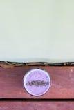 Il frullato porpora della soia della bacca con il chia spruzza Immagine Stock Libera da Diritti