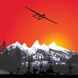 Il fuco fotografa la campagna fotografia aerea, ricognizione aerea Fotografie Stock Libere da Diritti
