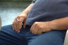 Il fumatore Fotografie Stock Libere da Diritti