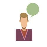 Il fumetto maschio Guy Portrait Casual Person Silhouette dei pantaloni a vita bassa dell'uomo dell'avatar dell'icona di profilo a Fotografia Stock