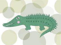 Il fumetto sveglio del coccodrillo ha isolato illustrazione vettoriale