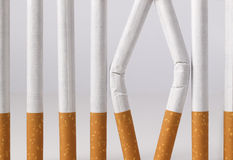Il fumo è una prigione da cui potete uscire Fotografia Stock Libera da Diritti