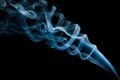 Il fumo blu fotografia stock libera da diritti
