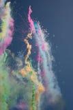 Il fumo colora i fuochi d'artificio Fotografie Stock Libere da Diritti