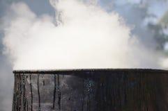 Il fumo della combustione Fotografie Stock Libere da Diritti