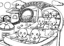 Il funfair - campo da giuoco - illustrazione per i bambini illustrazione vettoriale