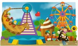 Il funfair - campo da giuoco per i bambini Fotografie Stock Libere da Diritti