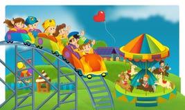 Il funfair - campo da giuoco per i bambini Immagine Stock