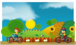 Il funfair - campo da giuoco per i bambini royalty illustrazione gratis