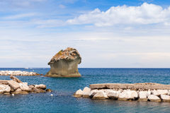 Il Fungo, famous rock in shape of mushroom, Ischia Royalty Free Stock Photography