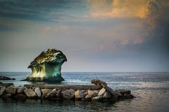 Il Fungo of Ischia. Il Fungo - landmark at port of Lacco Ameno, Ischia Royalty Free Stock Photo