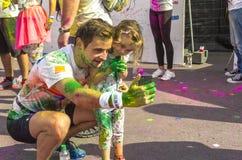 Il funzionamento Bucarest di colore Immagini Stock