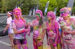 Il funzionamento Bucarest di colore Immagine Stock
