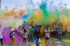 Il funzionamento Bucarest di colore fotografia stock libera da diritti