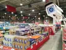 Il funzionamento della videocamera di sicurezza del CCTV Immagini Stock