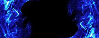 Il Fuoco Blu Fiammeggia La Struttura Di Energia Illustrazione Di