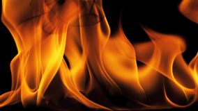 Il fuoco bruciante fiammeggia a schermo pieno stock footage