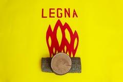 Il fuoco creato dai pezzi di legno Fotografia Stock Libera da Diritti
