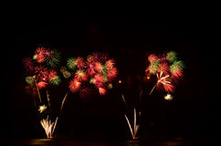 Il fuoco d'artificio, manifestazione, celebra, il re del compleanno Immagine Stock Libera da Diritti
