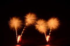 Il fuoco d'artificio, manifestazione, celebra, il re del compleanno fotografia stock libera da diritti