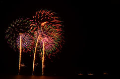 Il fuoco d'artificio, manifestazione, celebra, il re del compleanno Fotografie Stock