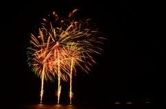 Il fuoco d'artificio, manifestazione, celebra, il re del compleanno immagini stock